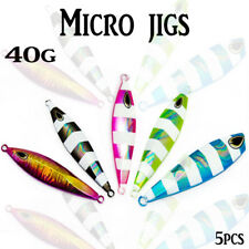 5x 40g Micro Jigs Glow Metal Jigging Jig Inchiku Lead Snapper Jewfish Kings Slow