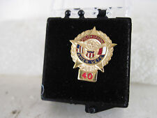 Polish Legion Amer Vets  40    yr  pin mint