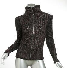 ISABEL MARANT Women Black Cable Knit Full-Zip Turtleneck Sweater Jacket 4-36 NEW