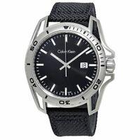 Calvin Klein K5Y31TB1 Earth Black Dial Men's Nylon Watch