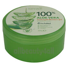 100% Pure ALOE VERA SOOTHING & MOISTURE GEL 300ml (10.58oz) - Made in Korea