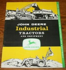 1957 John Deere Industrial Tractors and Equipment Sales Brochure Colorful