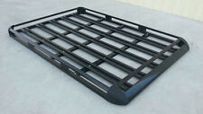 140x124cm  Black Coated Aluminium Car/4WD Roof Rack Luggage Basket + 2xCross Bar