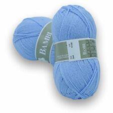 10 Pelotes laine à tricoter layette Bambi 544 Bleu Layette - livraison offerte !