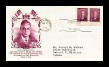 DR JIM STAMPS THREE CENTS KING GEORGE VI FIRST DAY ISSUE CANADA COVER