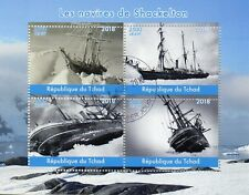 Chad 2018 CTO Shackleton Ships 4v M/S Boats Nautical Exploration Stamps