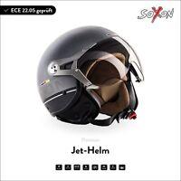 SOXON SP-325 PLUS Titan A. Jet-Helm Vespa Roller-Helm Motorrad-Helm XS S M L XL