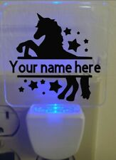 Personalized custom unicorn Blue-Light Square LED Night Lights, 3.5 in.