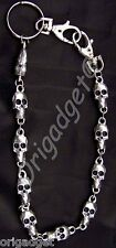 Skull Chain Keyring pocath704 Key Ring Chain Skulls