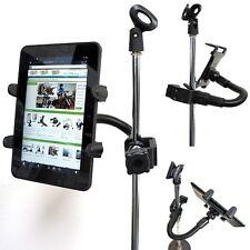 Universal Tablet Holder & HeavyDuty Aluminum Rod Music Mic CLAMP Pole Rail MOUNT