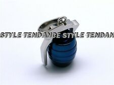 PENDANT + NECKLACE CHAIN MAN TEENAGER STEEL BLUE NEW GRENADE MILITARY ARMY
