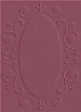 QuicKutz Lifestyle Crafts A2 Embossing Folder FRAME Oval, Fancy, Deco EF-A2-011
