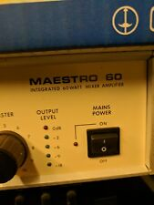 Maestro 60 Integrated 60 watt mixer amplifier PA system. With leads. Home Studio