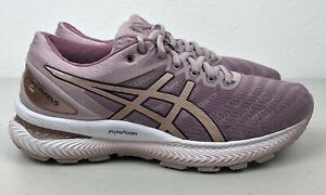 Womens Asics Gel-Nimbus 22 Size 7 Running Shoes Flyte Foam Rose Gold