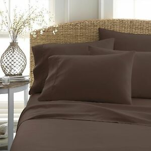 Home Collection Super Soft Luxury 6 Piece Bed Sheet Set - Dark & Dramatic Colors