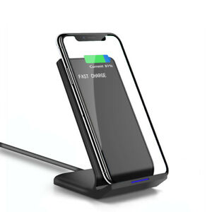 10W Qi Wireless Charger Dock Pad Stand For Samsung S10 S9 S8 iPhone 11 8 XS XR