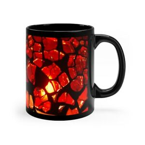 Stained Glass Design 11oz Mug Red Black Coffee Hot Chocolate