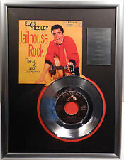 "ELVIS PRESLEY - Jailhouse Rock 7"" Platin Schallplatte RCA Record ( goldene )"
