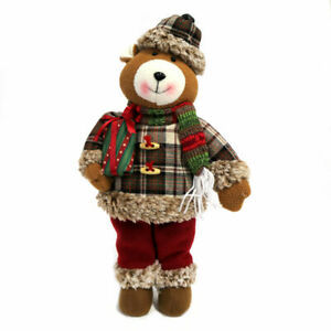 "Woodland Creek Light Up 17"" Holiday Teddy Bear Door Greeter"