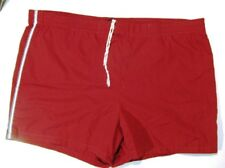 Jantzen Lined Vintage Men's Swim Trunks Drawstring Waist Brick Red Size 38