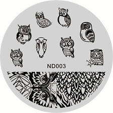 Nail Art Stamping Image Plates Stencil Manicure Stamp Template Owl Theme DIY