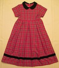 Girls Bonnie Jean Dress Red Black Plaid Size 10