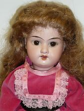 "15"" Antique A&M 390 German Head on Repro. Cloth Body, Cute Doll"