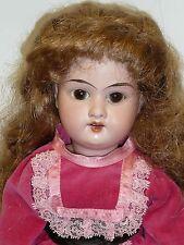 """15"""" Antique A&M 390 German Head on Repro. Cloth Body, Cute Doll Redhead"""