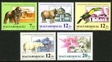 Hungary 3288-3292, MNH. Zoological and Botanical Gardens, 125th anniv. 1991