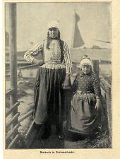 Holländische Markerin in Nationaltracht c.1902