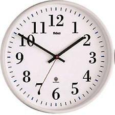 MEBUS Funkwanduhr Unisex Uhr Wanduhr Ø 30 Cm weiß