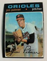 1971 Jim Palmer # 570 Baltimore Orioles Topps Baseball Card HOF