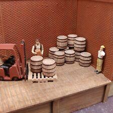 HO Wood Barrels 12 pcs HOn3 1/72 Produits MP diorama barils bois # H075