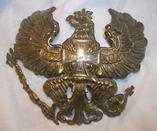 WW1 GERMAN ARMY M95 PRUSSIAN RESERVISTS BRASS PICKELHAUBE HELMET PLATE