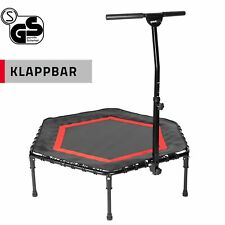 SportPlus Fitness Trampolin Minitrampolin Gummiseil Federung mit Griff klappbar