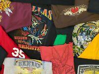 Lot of 5 Random Men's Graphic Tees T-Shirts all size Medium Cool Sweet Skull