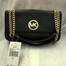 Michael Kors Fulton Black Leather Shoulder Bag. NEW!