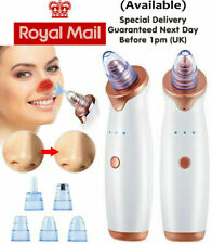 UK Electric Facial Skin Care Pore Blackhead Remover Cleaner Vacuum Acne Cleanser