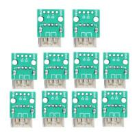 10PCS Type A Female USB to DIP 2.54mm PCB Board Adapter Converter Connector