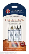 Guardsman Furniture Wood Filler Stick Repair Kit Wood Scratches 5 Markers Sticks