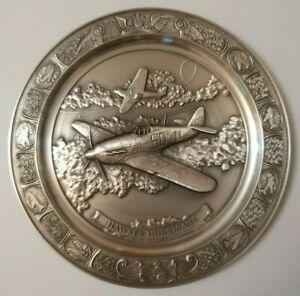 Riskin Pewter Aviation Commemorative Plate: Hawker Hurricane