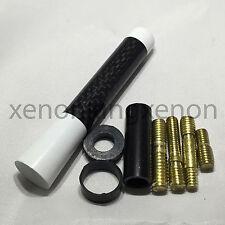"JDM Style Short White 3"" in/76 mm Carbon Fiber Screw Type Antenna #w18 Vehicles"