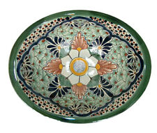 #001 SMALL BATHROOM SINK 16x11.5 MEXICAN CERAMIC HAND PAINT DROP IN UNDERMOUNT