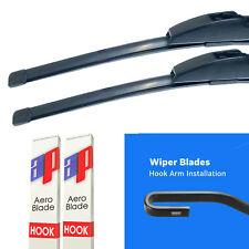 "Front Flat Aero Window Wiper Blades Windscreen 21""/19"""