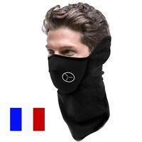 Cagoule Masque Tour de Cou Neoprene/Polaire Moto Vélo Protection Visage Froid