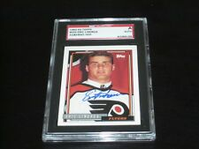 ERIC LINDROS AUTOGRAPHED 1992-93 TOPPS HOCKEY CARD-SGC SLAB-ENCAPSULATED-FLYERS