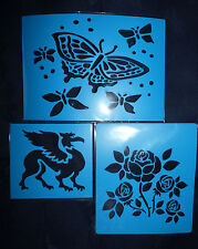 Plastic/PVC/Embossing/Stencil/Butterfly/Rose/Griffin/SET/Upper/Case/PP//Bendy