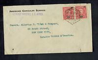 1909 Lorenzo Marquez Mozambique Cover to USA American Consul Diplomatic Mail
