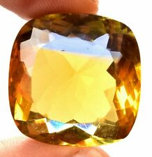 60.85 Cts. Natural Ametrine Blue & Yellow Square Cushion Cut Certified Gemstone