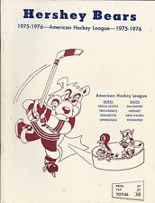 1975-76 Hershey Bears vs. Rochester Americans AHL Hockey Program #FWIL